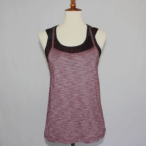 Strappy Tank Size 6 Layered Mesh Back Thick Strap